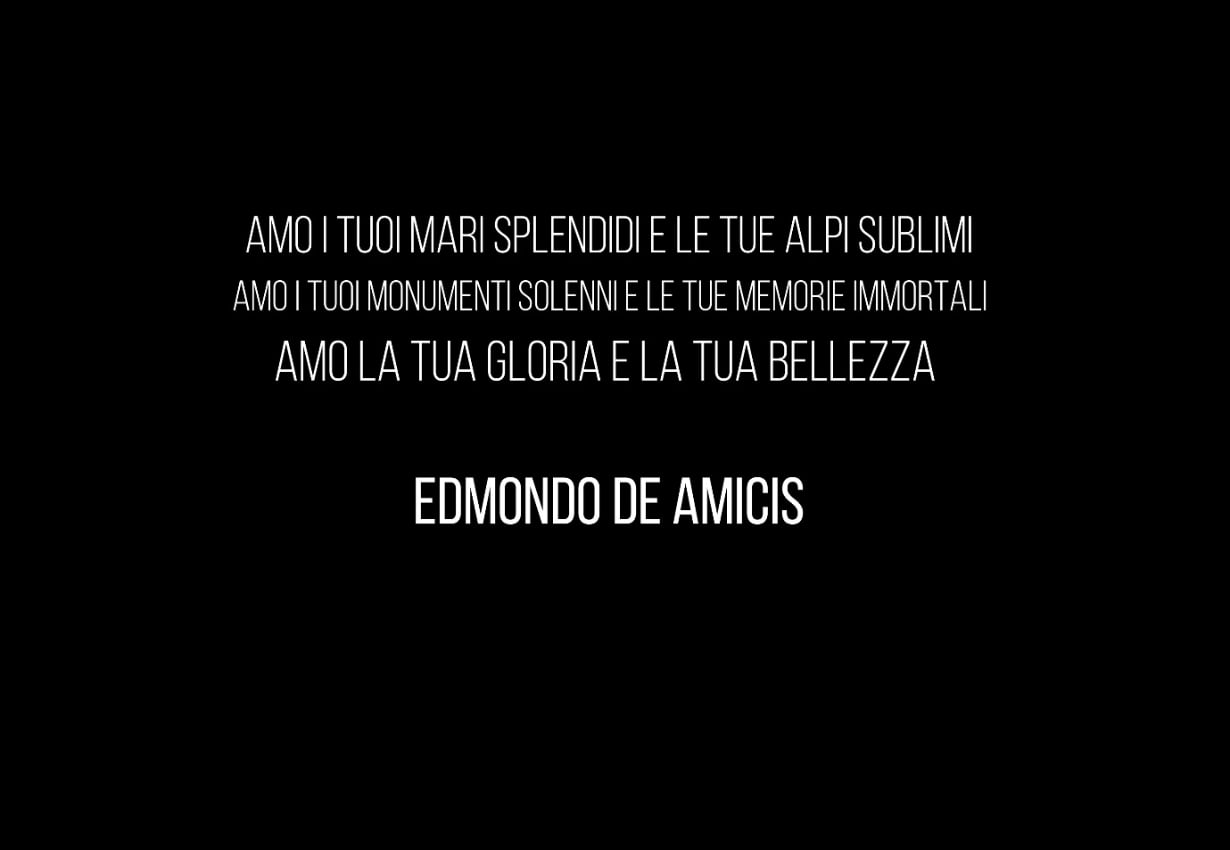 Edmondo De Amicis quote about Italy beautiness